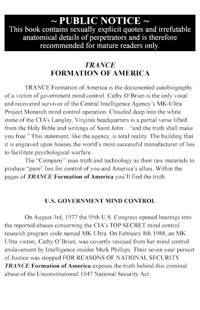 TRANCE Formation of America - Back Cover